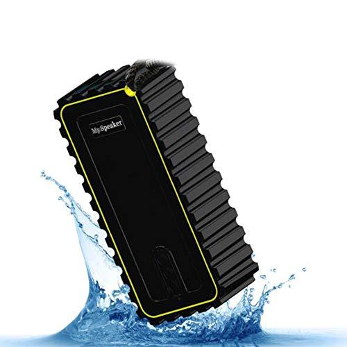 OKMIJNBH Enceinte Bluetooth-Haut-Parleur Intelligent-Étanche Anti-Chute Mini Voiture en Plein air Rechargeable 6W Portable Basse Lourde avec Radio,Black