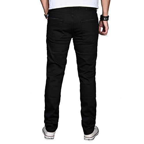 Alessandro Salvarini - Jeans - Slim - Uni - Homme Noir