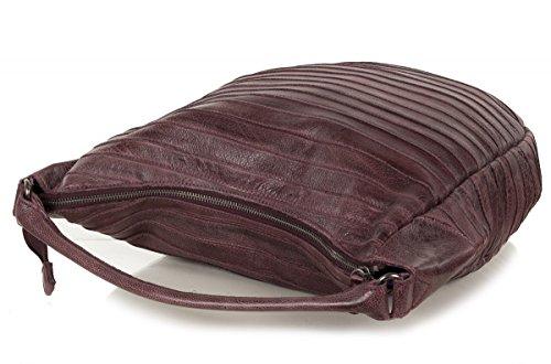 FREDsBRUDER sac en bandoulière tatou S - cuir vachette ciré - (32 x 34 x 8 cm) Shadow Red (Rouge)