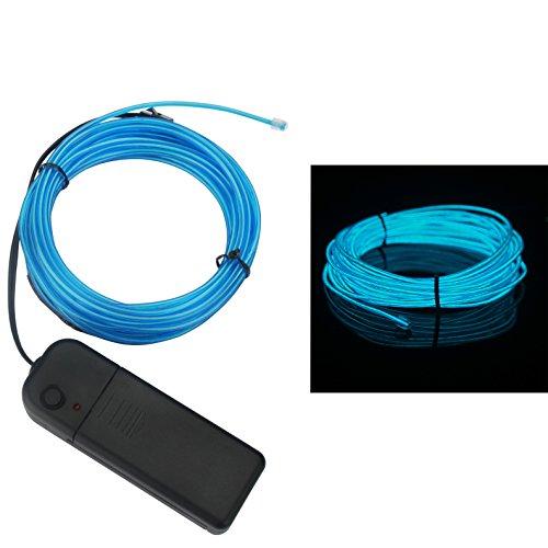 ALED LIGHT 5M Fil Néons El Wire Lumineux Électroluminescent 3 Modes Stroboscopique...