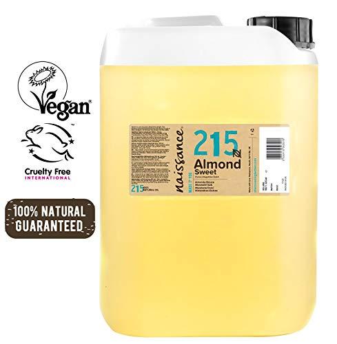 Naissance Mandorle Dolci Naturale 5L - Vegan, senza OGM - Ideale per la cura della Pelle e dei Capelli, l'Aromaterapia e come olio da Massaggio di base