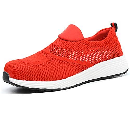 BESKEE Arbeitsschuhe Herren S3 Leicht Sicherheitsschuhe Damen Atmungsaktive Stahlkappen Schuhe 36-46