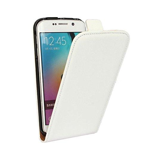 Roar Handy Hülle für iPhone 6 Plus / 6S Plus, Handyhülle Weiß, Tasche Handytasche Schutzhülle mit Magnet-Verschluss - Case 6 Iphone Leder Vertikal