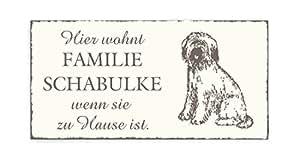 Panneau chien ou plaque de tête de bRIARD personnel» et «nom de porte style vintage en bois pour animal domestique extrémité en forme de chien de chasse impression sur toile motif chien de garde