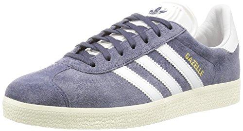 adidas Unisex-Erwachsene Gazelle Sneakers, Grau (Nemesis/Vintage White/Gold Met.), 42 2/3 (8.5 UK)