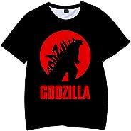 PANOZON Camiseta Niños Impresa 3D Godzilla vs Kong T-Shirts Mangas Cortas para Fans de Monstruos King Kong