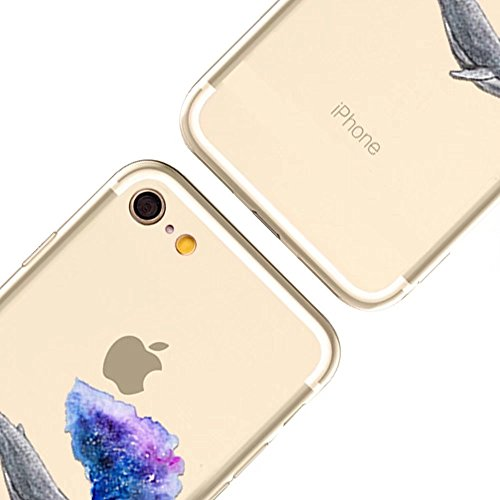 iPhone 6S Hülle, MOMDAD Transparent Malerei [Cartooon Fisch Fish Serie] Handyhülle für iPhone 6S 6 Handytasche Ultra Thin Crystal TPU Silikon Pattern Muster Weich Rückseite Case Cover mit Anti-Kratzer Color 3