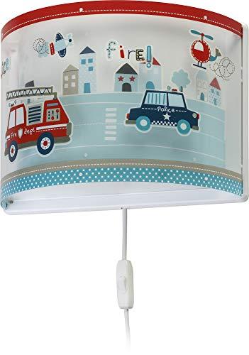 Dalber Police kinder Wandlampe, Kunststoff, 60 W, bunt