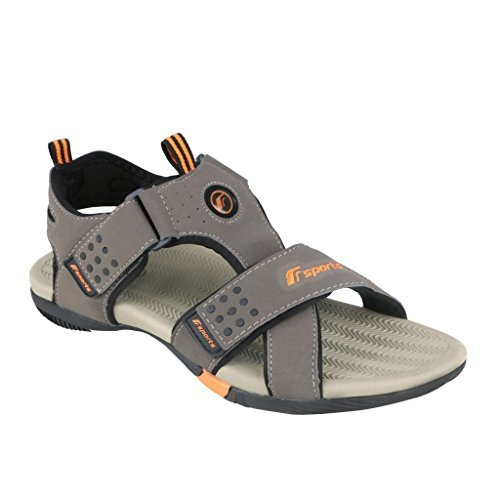 Fsports Men's Navigator Series Olive Orange Synthetic Casual Sandals 8UK  available at amazon for Rs.1420