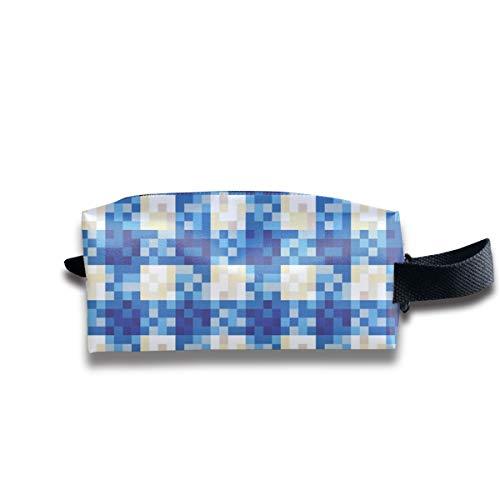 8-Bit-Gingham Dorothy_24904 Tragbare Reise Make-up Kosmetiktaschen Organizer Multifunktions-Tasche Taschen für Unisex