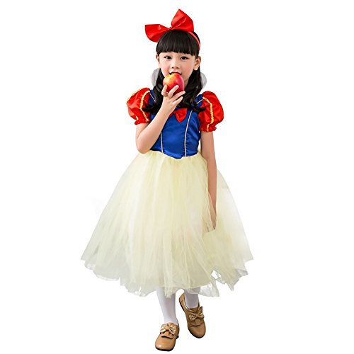 hneewittchen Prinzessin für Karneval Fasching Halloween Gr. 110/122 (Herstellergröße M) (Schneewittchen Kostüm Für Halloween)