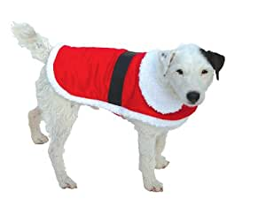 Goodboy Santa Dog Coat, L