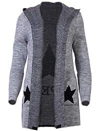 754815dca5 Fashion You Want Damen Cardigan Größe 34-48verfügbar Sterne Star Strick  Strickjacke Bolero Mantel Jacke