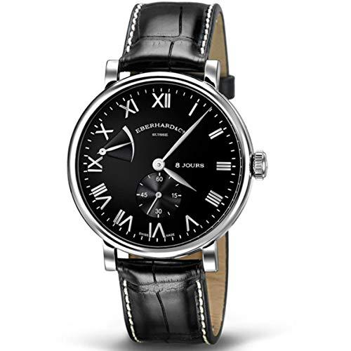 Eberhard & Co 8 Jours Grande Taille Homme 41mm Noir Mécanique Montre 21027.4