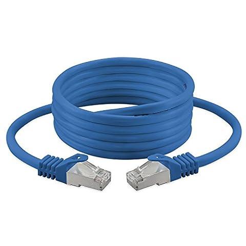 CAT. 7–câble réseau LAN Gigabit Ethernet (RJ45) | 10/100/1000mbit/S–pour la Diffusion en continu | Filmée TV | IPTV | ordinateur de bureau | serveurs | portables | réseau, imprimantes, sans halogène/10GBS/haute qualité |
