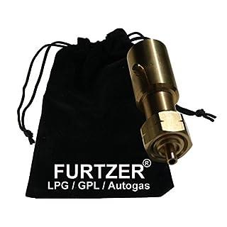 Furtzer LPG GPL Autogas Tankadapter BAJONETT Gasflaschen Propangas lang Adapter mit Stoffbeutel by
