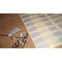 150 Plata Rectangular Joyería Etiquetas De Precio / Precio Pegatinas / Dumbell Forma Rótulos