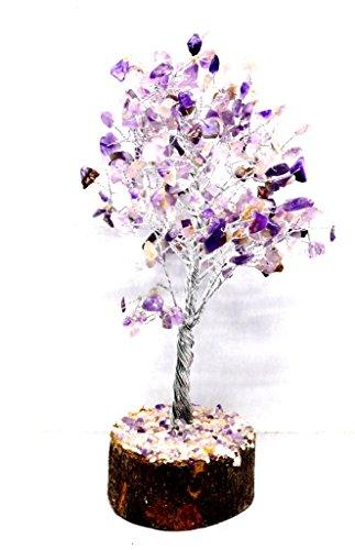 Heilung Kristalle Indien Natur Edelstein Geld Baum Feng Shui Spirituelle 8ïnch, 200Chips (Amethyst) -