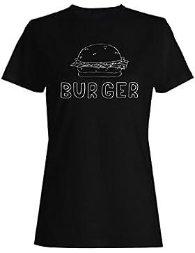 Hamburguesa Hecha A Mano Deliciosa camiseta de las mujeres m833f