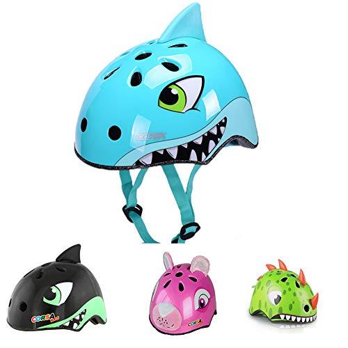 YGJT Caschi Bici per Bambini degli Cartone Animato Sicurezza Protezione della Testa S 50-54CM M 54-58CM per Bambini dai 2-5 e 6-10 Anni Leggero Traspirante