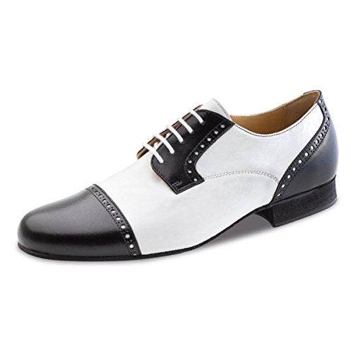 Werner noyau, Chaussures de danse homme 28051cuir [Largeur normale] Schwarz/Weiß