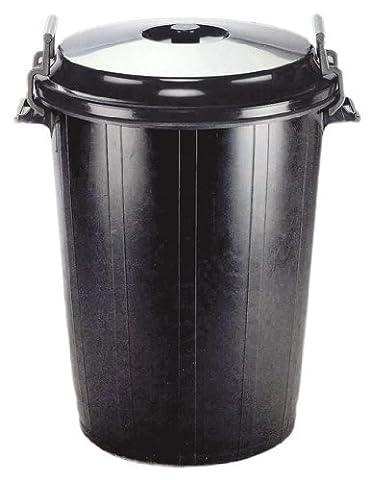 Faulks 100 Litre Black Bin With Clip Lid