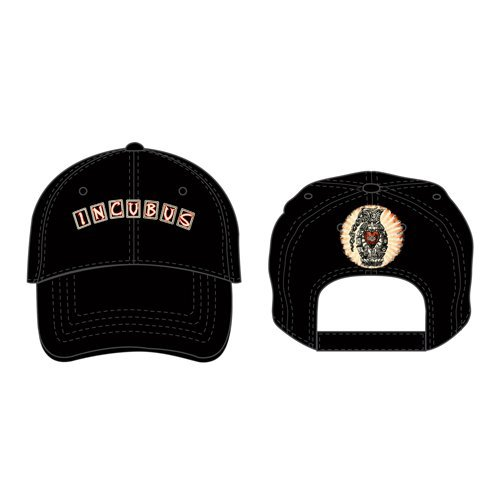 Incubus Black Baseball Cap Arch Logo & Band Design Official Classic One Size Arch Logo Cap