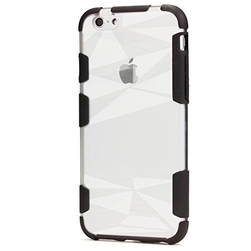 ORIGINAL Urcover® HARD Crystal SERIES Schutzhülle für das Apple iPhone 6 Plus / 6s Plus Handyhülle Etui [DEUTSCHER FACHHANDEL] Weiß Schwarz