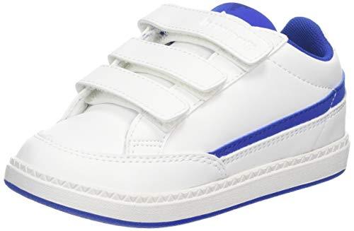 Le Coq Sportif Courtclay Inf, Sneaker Unisex-Bimbi, Bianco Optical White/Cobalt, 22 EU