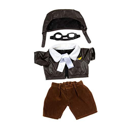 Kleidung für Teddybär, Puppen, Kuscheltiere Pilotenanzug mit Brille und Fliegermütze, 40 cm, Kleidung für Teddybär, Puppen, Kuscheltiere ...
