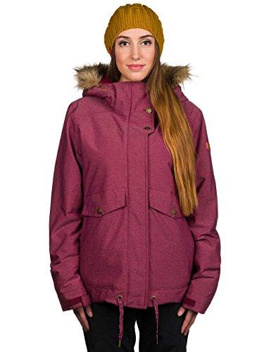 Roxy Grove - Veste de snow pour femme ERJTJ03058 Rouge - Rhododendron