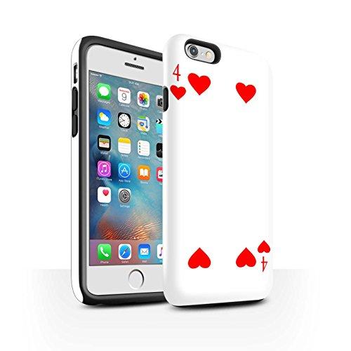 STUFF4 Matte Harten Stoßfest Hülle / Case für Apple iPhone 6 / Pik-König Muster / Kartenspielen Kollektion 4 von Herz