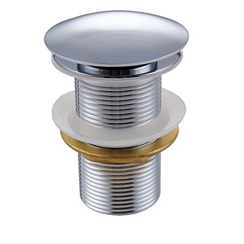 Chrom Pop-up (KES Ablaufgarnitur für den Waschtisch Pop Up Ventil Waschbecken Ablauf, Chrom, S2008D-NP)