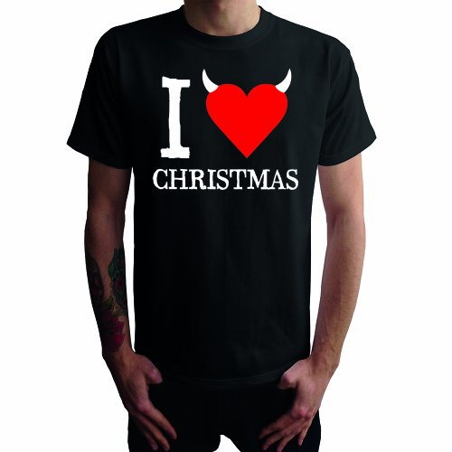 I don't love Christmas Herren T-Shirt Schwarz