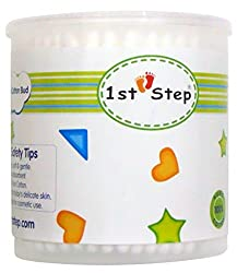 1st Step ST-3104 Baby Mini Cotton Buds in Container (White)