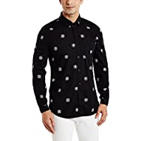 Colt by Unlimited Men's Casual Shirt (8907542591466_271984144_XL_Black)