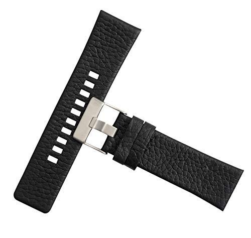 schwarz 26mm Echte Band Ersatzarmband mit Schnalle Edelstahl Kalbsleder Armbanduhr Uhr - Mido-uhr-band