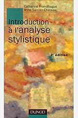 Introduction à l'analyse stylistique, nouvelle édition Broché