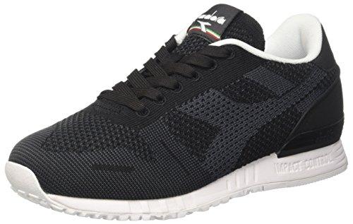 Diadora Unisex Adulto In Titanio Tessuto Sneaker Collo Basso Nero (nero)