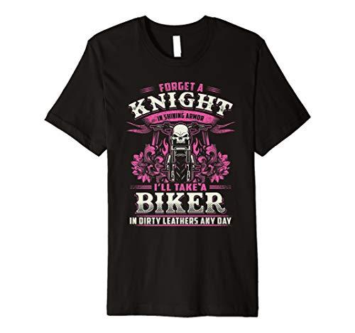 Biker Bitch Skull T-Shirt Frauen Forget Ritter Schmutzige Le - Bitch Biker-shirt