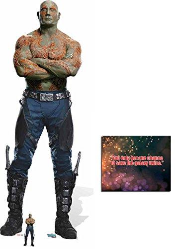 (Fan Pack - Drax the Destroyer Guardians Of The Galaxy Vol. 2 Lebensgrosse und klein Pappaufsteller - mit 25cm x 20cm foto)