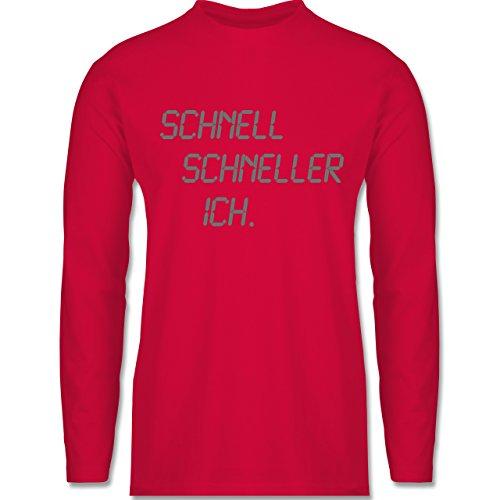 Shirtracer Laufsport - Schnell - Schneller - Ich - Herren Langarmshirt Rot