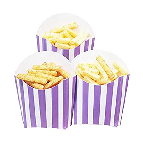 12 PCS Birthday Party Supplies Popcorn Cups Boîtes alimentaires pour frites / sucre - A8