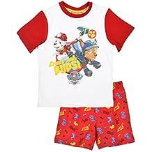 Pijama Paw Patrol-Patrulla Canina- para niños 2 piezas-camiseta manga corta pantalón