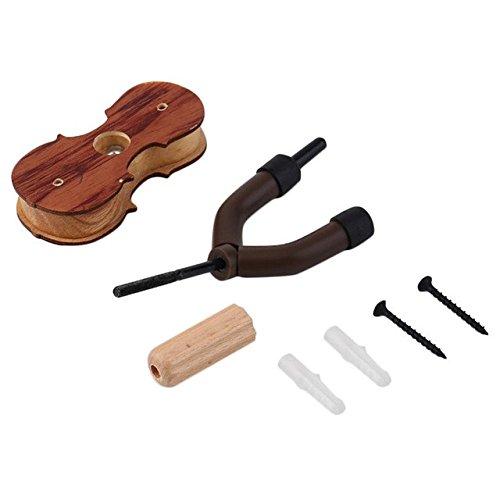 Violin-Aufhänger-Haken-Halter aus Holz Wandmontage-Halter-Anzeigen-hängenden Violin Teilen Zubehör