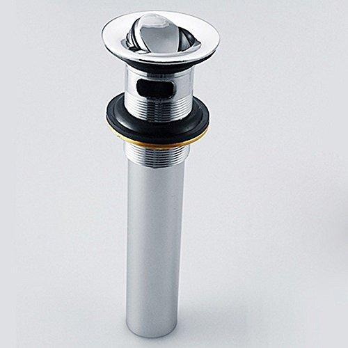 Rmckuva Ablaufgarnituren Ablaufventil Universal Messing Modern Verchromt Entwässerungsventil Mit Überlauf Abtropffläche Für Waschbecken Waschbecken Gekippt Schließen
