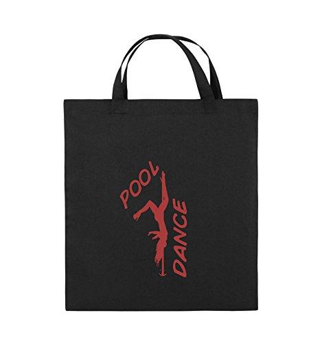 Comedy Bags - POOL DANCE - FIGUR - Jutebeutel - kurze Henkel - 38x42cm - Farbe: Schwarz / Silber Schwarz / Rot
