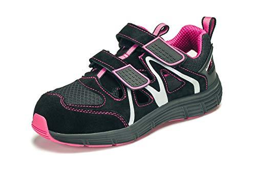 KREXUS Damen Arbeitsschuhe Schwarz/Pink Gr. 42 EX10907-42