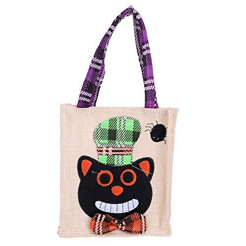 Urlaub Süßes oder Saures Goody Tasche für Kostüm Zubehör Katze Hexe Kürbis(Katze) ()