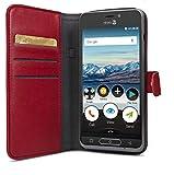 Etui portefeuille pour smartphone Doro 8035 - Rouge - Accessoire officiel Doro